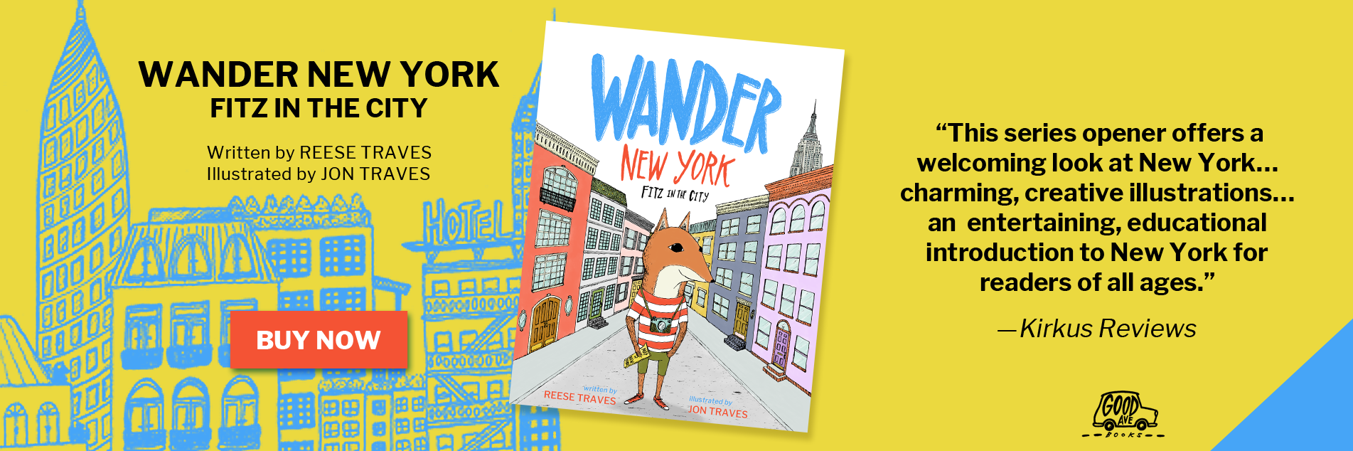 Jon Traves - Picture Book Illustrator - Buy Wander New York Book Now